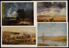 RARE - LIVRET AVEC 12 CARTES DE TABLEAUX RUSSES DE *Alexei Savrasov * (1830-1897) - Pittura & Quadri