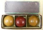 3 Boules Billes De Billard Français Anciennes Dans Boite En Onyx Vintage Frais De Poste Inclus Pour La France Métropole - Billiards