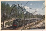 Locomotive Electrique 2D2 Catainers Ligne Bordeaux Irun Chemin De Fer Ferroviaire Sncf Railways Zug Bahn - Treinen