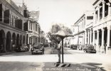 Port Au Prince Grand Rue Police Man Cordinating Trafic Real Photo 1940 - Haïti