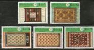 Libya 1979 Tripoli Fair Textile Rugs Art Handicraft Sc 805-9 MNH # 3820 - Textile