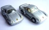 LOT 2 VOITURES - AUTOMOBILE - PORSCHE 959 MAISTO � friction et MAJORETTE