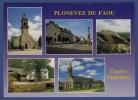 29 PLONEVEZ-DU-FAOU Eglise, Bourg, Roc'h Begheor, Moulin Au Bord Du Ster Goanès, Chapelle Du Quilliou 5 Vues - Plonevez-du-Faou