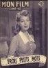 """MON FILM  N° 273  - 1951 """" TROIS PETITS MOTS """" ARLENE DAHL / FRED ASTAIRE - Dos: GEORGES MARCHAL - Cinéma"""