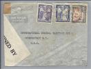 BRITISH GUIANA 1942-07-30 Zensur Air Mail Nach USA - Guyane (1966-...)