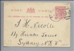 St. Arnaud Victoria 1907-04-27 Auf Ganzsache Nach Sydney NEW SEALAND - Nouvelle-Zélande