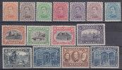 Nr 135/149 **, Cote = 2205 €, Met Attest Pierre Kaiser (LUX) - 1915-1920 Albert I