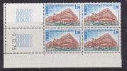 FRANCE SERVICE CONSEIL DE L´EUROPE N°54 1F BLEU VERT FONCE ET BRUN BATIMENT DU CONSEIL A STRASBOURG C.D.DU 9.12.1976** - Coins Datés