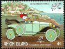 Union Island (St.Vincent) 1989 Scott 244 Sello ** Walt Disney Coches Antiguos Donald Y Citroen Tipo A De 1919 4c Union I - Disney