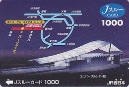 Carte Prépayée Japon - TRAIN / Plan Pour Universal City - Japan JR J Card - ZUG Eisenbahn Prepaid Karte - TREIN - 756 - Trains