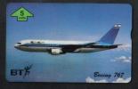 ISREAL BOING 767  PHONECARD BT ( 5 UNITS ) - Avions