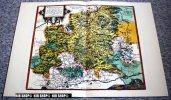 Würtemberg Um 1579, Alter Lichtdruck Um 1920 Choloriert - Landkarten