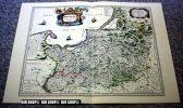 Deutschland Um 1600, Alter Lichtdruck Um 1920 Choloriert - Landkarten