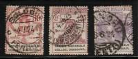 ITALIA REGNO 1924 ENTI PARASTATALI UFF.COLLOC.DISOCCUPATI N° 63-64-66 (r. 6580) - 1900-44 Vittorio Emanuele III