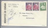 BERMUDA 1943 Zensurbrief über Lisabon Nach Bienne (Omega) CH - Bermudes