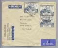 SOUTHERN RHODESIA 1949-01-10 3x3d UPU-Marke Brief Nach New Zealand - Afrique Du Sud (1961-...)