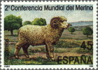 España 1986 Edifil 2839 Sello ** Conferencia Mundial Oveja Merina 45Pts Spain Stamps Espagne Timbre Briefmarke Spanien - 1931-Hoy: 2ª República - ... Juan Carlos I