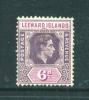 LEEWARD ISLANDS  -  1938/54  George VI  6d  Mounted Mint As Scan (no Gum) - Leeward  Islands