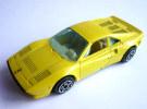 VOITURE - AUTOMOBILE -  BURAGO - FERRARI GTO JAUNE - 1/43 �me