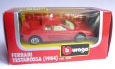 VOITURE - AUTOMOBILE -  BURAGO - FERRARI TESTAROSSA 1984 - 1/43 �me EN BOITE NEUVE