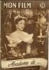 "MON FILM  N° 386  - 1954 "" MADAME DE ... "" DANIELLE DARRIEUX / VITTORIO DE SICA - Dos: CHARLES BOYER - Cinema"