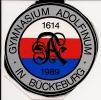 Alter Aufkleber 375 Jahre Gymnasium Adolfinum Bückeburg 1614 - 1989 - Aufkleber