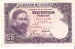 BILLETE DE ESPAÑA DE 25 PTAS DEL AÑO 1954 ISAAC ALBENIZ  SERIE K - [ 3] 1936-1975 : Regime Di Franco