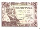 BILLETE DE ESPAÑA DE 1 PTA DEL 15/06/1945 ISABEL LA CATÓLICA SERIE J  CALIDAD EBC+ (BANK NOTE) - [ 3] 1936-1975 : Régence De Franco