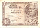BILLETE DE 1 PTA DEL AÑO 1948 SERIE B - DAMA DE ELCHE  (BANKNOTE) - [ 3] 1936-1975 : Régimen De Franco
