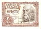 BILLETE DE ESPAÑA DE 1 PTA DEL AÑO 1953 MARQUES DE SANTA CRUZ CALIDAD RC SERIE Z - [ 3] 1936-1975 : Régence De Franco