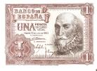 BILLETE DE ESPAÑA DE 1 PTA DEL AÑO 1953 MARQUES DE SANTA CRUZ CALIDAD EBC+ SERIE A - [ 3] 1936-1975 : Régence De Franco