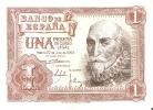 BILLETE DE ESPAÑA DE 1 PTA DEL AÑO 1953 MARQUES DE SANTA CRUZ CALIDAD EBC+ SERIE X - [ 3] 1936-1975 : Régimen De Franco