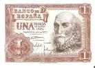 BILLETE DE ESPAÑA DE 1 PTA DEL AÑO 1953 MARQUES DE SANTA CRUZ CALIDAD EBC+ SERIE Z - [ 3] 1936-1975 : Régence De Franco