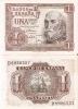 LOTE DE 2 BILLETES CORRELATIVOS DE 1 PTA DEL AÑO 1953 CALIDAD EBC+ SERIE D - [ 3] 1936-1975 : Régimen De Franco