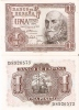LOTE DE 2 BILLETES CORRELATIVOS DE 1 PTA DEL AÑO 1953 CALIDAD EBC+ SERIE D - [ 3] 1936-1975 : Régence De Franco