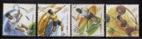 India Used 2000, Set Of 4, Olympics, Discuss, Tennis, Hockey, Weightlifting, Sports, Sport - India