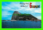 GIBRALTAR - ROCK FROM SPANISH MAINLAND ACROSS THE BAY - - Gibraltar