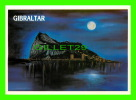 GIBRALTAR - THE ROCK AT NIGHT - TRAVEL IN 1989 - - Gibraltar