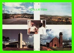 GABON, AFRIQUE - DIOCÈSE D'OYEM - 5 MULTIVUES - CIRCULÉE EN 1988 - PHOTO OKOUE NGOU - - Gabon