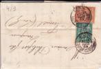 1889 - SAGE - PERFORES F.A (FELIX AUNAC) Sur LETTRE De AGEN (LOT ET GARONNE) Pour FUMEL - AFFRANCHISSEMENT 50c RARE - France