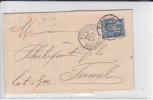 1888 - SAGE - PERFORES S.T.L INVERSE (SOULA,deTRINCAUD LA TOUR) Sur LETTRE De BORDEAUX (GIRONDE) Pour FUMEL - - France