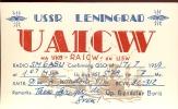 QSL - USSR Leningrad - Gendelev Boris - Cartes QSL
