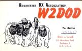 QSL - Rochester DX Association - Radio Elmer Grabb Rochester NY - USA - Cartes QSL