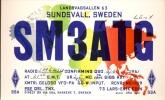 QSL - Sundsvall Sweden 1961 - SM3ATG Radio - Cartes QSL