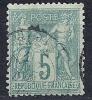 "YT 64 "" Sage Type I 5c. Vert "" 1876-78  Cachet à Date - 1876-1878 Sage (Type I)"