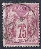 "YT 71 "" Sage Type I 75c. Carmin "" 1876-78  Cachet à Date Constantinople Galata - 1876-1878 Sage (Type I)"