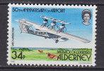 Alderney 1985 Mi. 22    34 P Flughafen Von Alderney Flugboot Saro A. 21 Windhover MNH** - Alderney