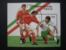 "CUBA  1989   ""ITALIA  '90""   WORLD  CUP  FOOTBALL CHAMPIONSHIP   MINIATURE  SHEET - Unclassified"