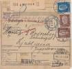 DR Paketkarte Mif Minr.343,416,2x 420 Gel. Nach Jugoslawien Nachporto Ansehen !!!!!!!!!! - Briefe U. Dokumente