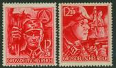 Germany 1945 Mi 909-910 MH SA/SS Stamp Set Corner Margin Pair 50596 - Briefe U. Dokumente